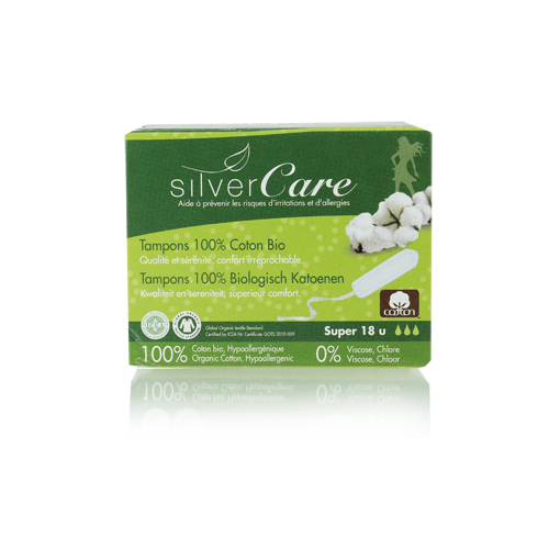 "Tamponai be aplikatoriaus ""Super"", 18 vnt.  Silver Care"